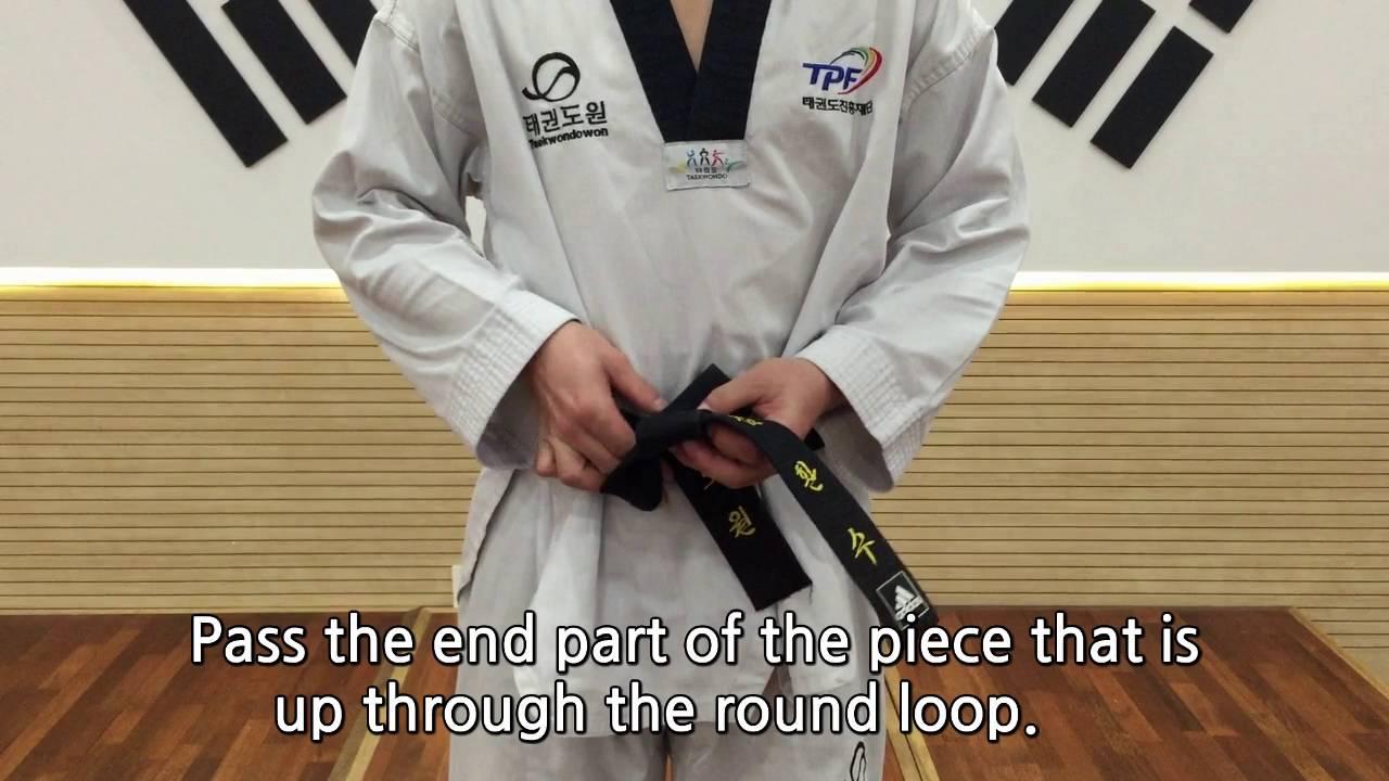 [taekwondowon] How To Tie A Belt?