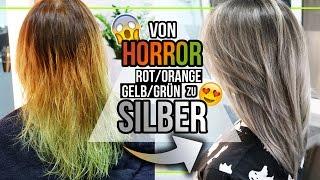 Haare SILBER FÄRBEN! - wir färben meine Haare Silber/Grau!! 😱