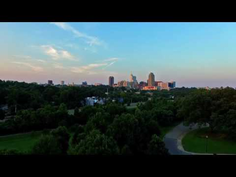 Raleigh NC's Dorothea Dix Park at Sunset