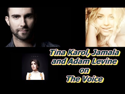 Tina Karol, Jamala and Adam Levine on The Voice