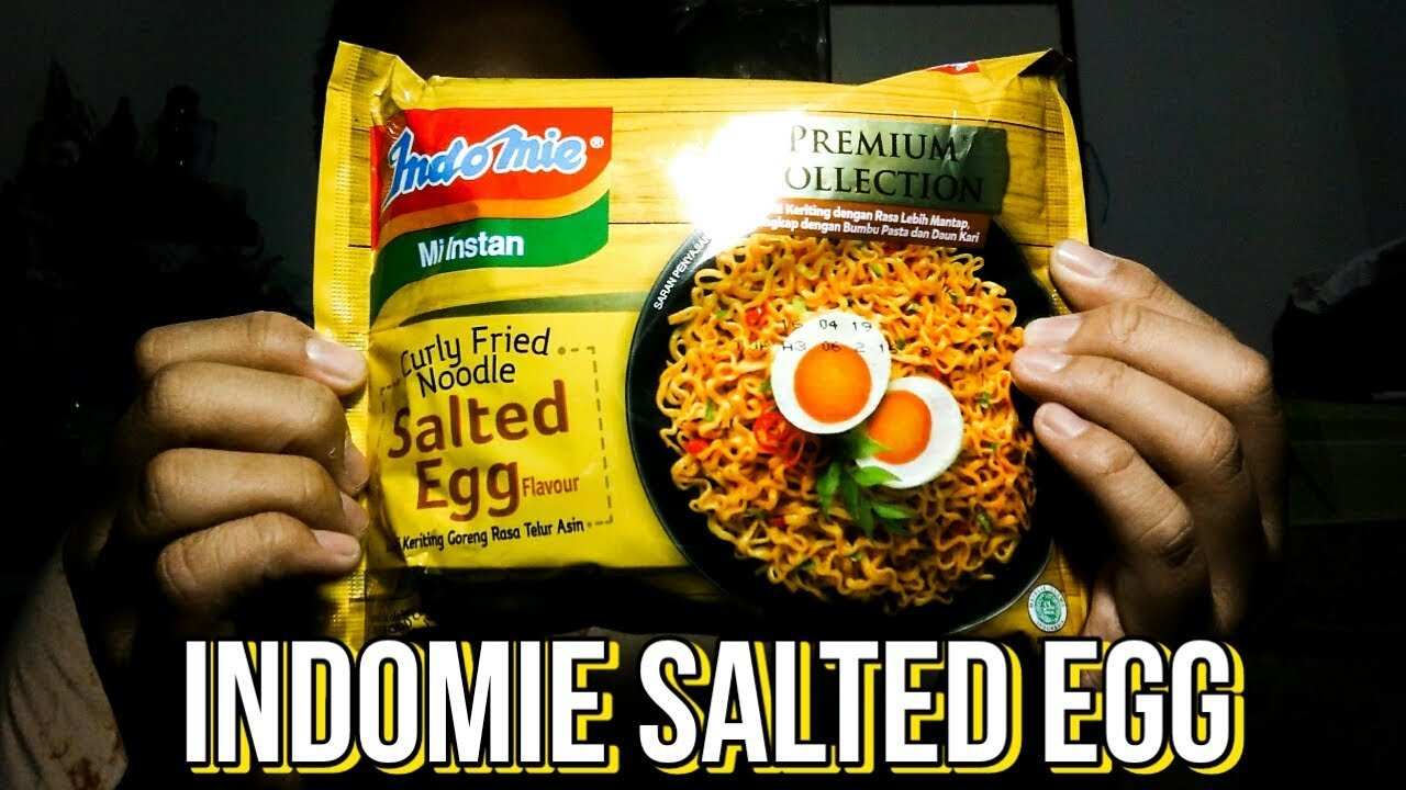 The Indomie Salted Egg Review Youtube Goreng Telur Asin