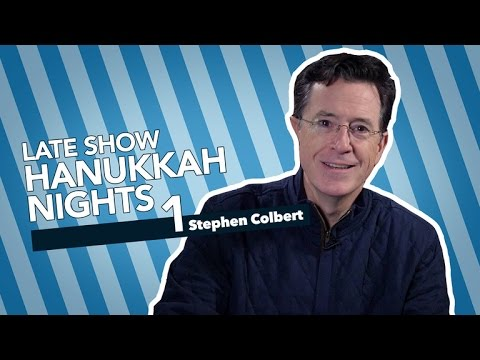 Stephen Colbert Celebrates The First Night Of Hanukkah