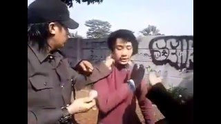 pemuda pakai pin PKI dihajar warga