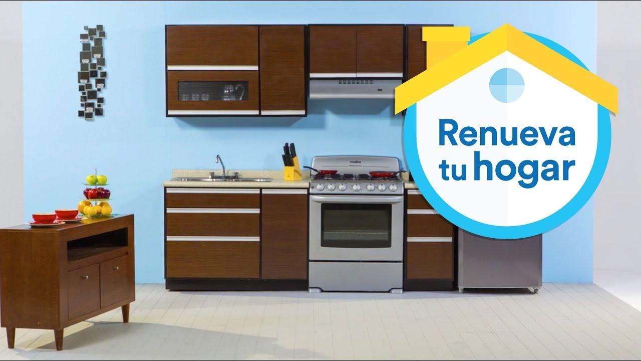 Arma tu cocina ideal coppel youtube for Catalogo de cocinas integrales