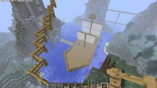 Rage and Hollow Play Minecraft! Episode 29: Epic Sky Bridge Dueling!