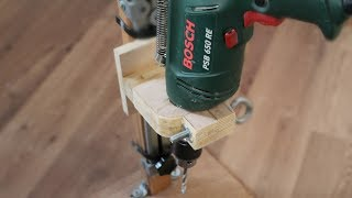 Make a wooden drill press stand. Drill press stand build homemade