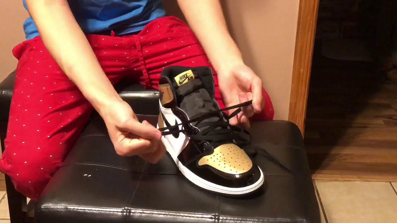 cee8ed00c8e500 How To Factory Lace Jordan 1 s (Tutorial) - YouTube
