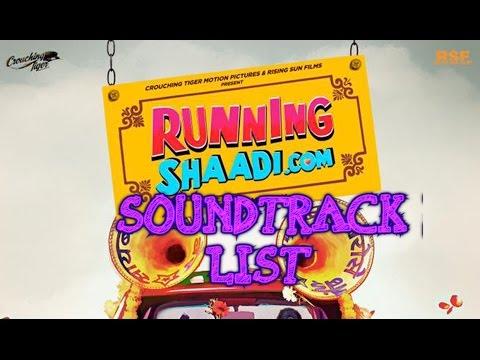 RunningShaadi  com Soundtrack list