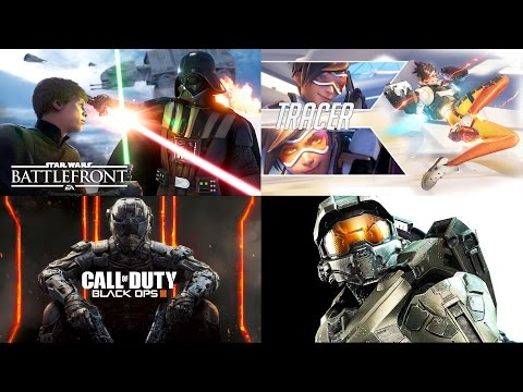 SO MANY AWESOME SHOOTERS ALL AT ONCE! Halo 5 vs Overwatch vs Black Ops 3 vs Battlefront