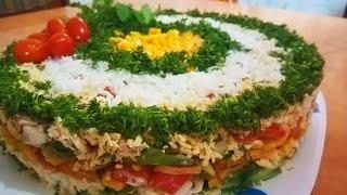 Вкусный салат который съедается быстрее чем готовить! Любимый салат на любом празднике! Майонез сала