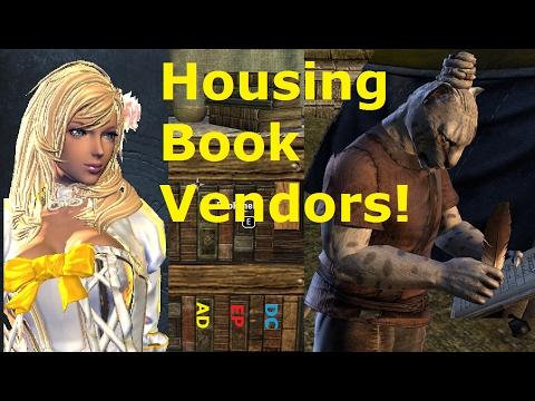 ESO Housing Book Vendors! Locations, Readable Books for Furnishing