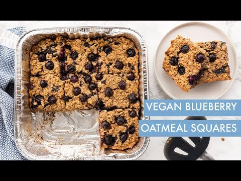 Vegan Blueberry Oatmeal Squares