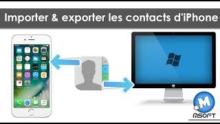 Importer & exporter les contacts d'iPhone vers PC/IPHONE/MAC | Msoft | (Darija)