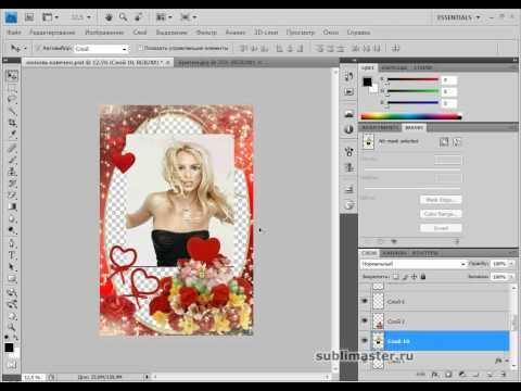 Вставляем фото в рамку с помощью Photoshop