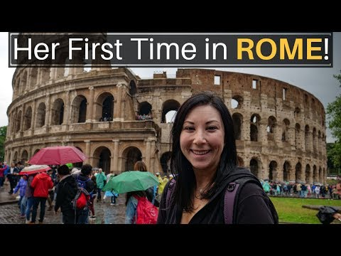 Her First Time In EUROPE (Rome)