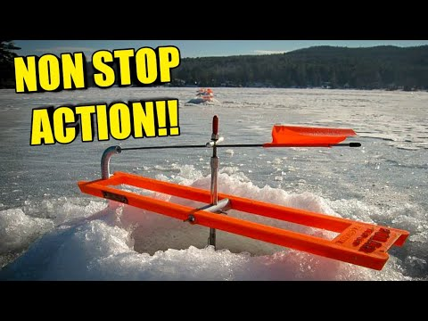 Nonstop Tip-Up Action!! Ice Fishing (2018)