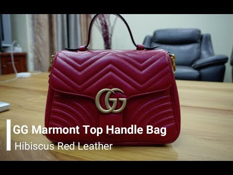 a3b10e0590f72 GG Marmont Top Handle Bag Review - YouTube