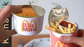 I ate McDonald's in a CAN! (limited edition MRE food from mcdonalds 2021)