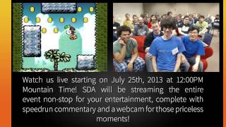 Summer Games Done Quick 2013 Promo - A Speed Demos Archive Charity Marathon