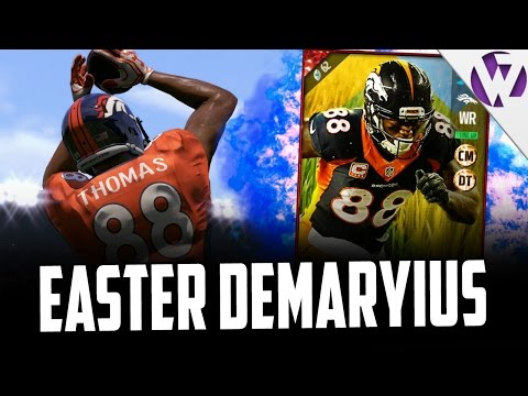 EASTER DEMARYIUS THOMAS IS A BEAST!!! MADDEN 17 EASTER DEMARYIUS THOMAS GAMEPLAY