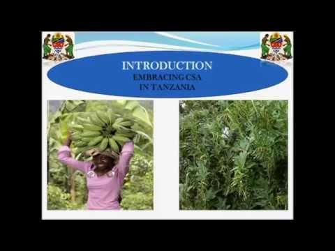 Tanzania Climate-Smart Agriculture Case Study Webinar