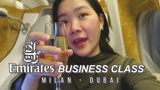Makanan Lounge EMIRATES di DUBAI sih... Bikin Speechless! || Emirates Business Class
