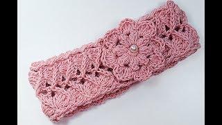 Crochet head ribbon for girl #crochet #crochet very easy