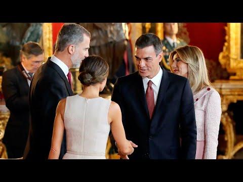 El lapsus de Sánchez durante la recepción en el Palacio Real