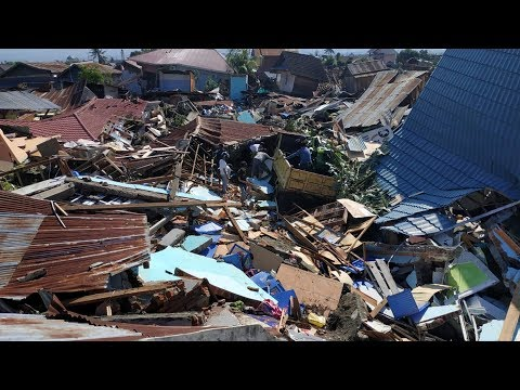Drone footage shows damages after quake and tsunami in Indonesia