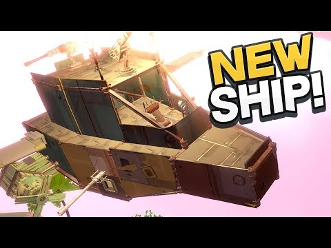 Worlds Adrift - BUILDING A BRAND NEW ARMORED SHIP! Best Ship Ever! - Worlds Adrift Beta Gameplay