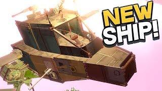 Worlds Adrift - BUILDING A BRAND NEW ARMORED SHIP! Best Ship Ever! - Worlds Adrift Beta Gameplay