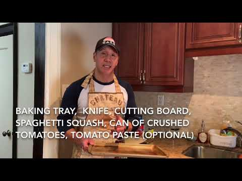 PORTION SIZES AND SPAGHETTI SQUASH HEALTHY EATING VIDEO WITH CHEF TSAI