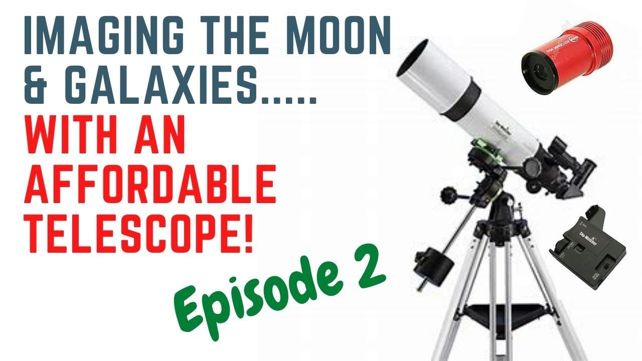 Skywatcher StarQuest 102 R & ZWO ASI120mm - Capturing the Moon & Cigar Galaxy!