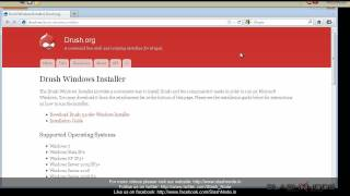 Intall Drush on Windows - Drupal video tutorial from SlashNode.in