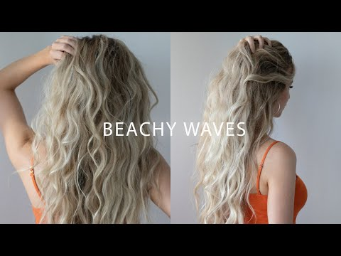 HOW TO: BEACH WAVES With Flat Iron Hair Tutorial 🍊 ☀️