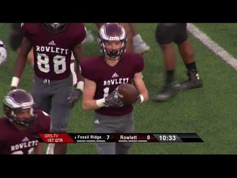 Garland ISD: Rowlett vs Fossil Ridge Football