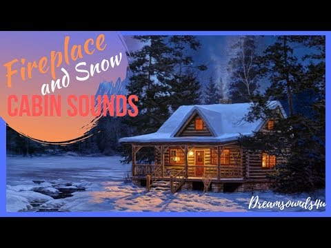 Wood Cabin Ambience || Fire And Snowstorm Sounds