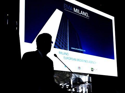 Gentiloni alla presentazione della candidatura di Milano a sede dell'EMA (24/07/2017)