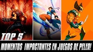 TOP 5 MOMENTOS IMPACTANTES EN JUEGOS DE PELEA!
