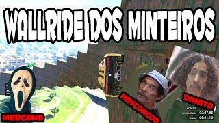 OS MINTEIROS COM MAYCONCOD E DINATA GTA V CORRIDA WALLRIDE SOU MINTOS