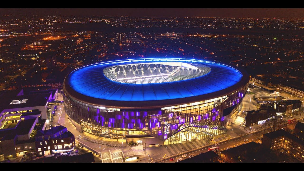 Image result for Tottenham Hotspur Stadium at night