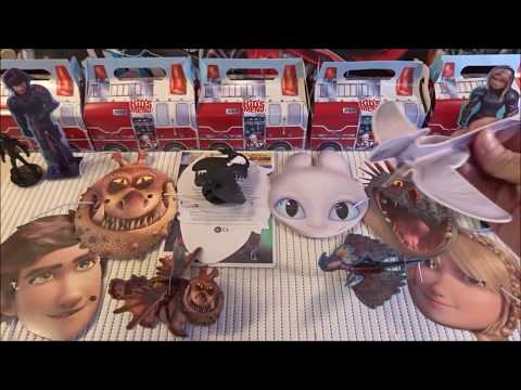 How To Train Your DRAGON 3 The Hidden World KFC Kids' Meals Figures & Masks Very Rare Collection