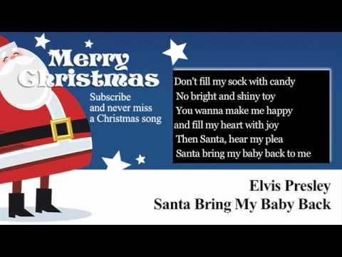 Elvis Presley - Santa Bring My Baby Back to Me - Lyrics (Paroles)