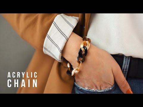 New trend items: Acrylic chains