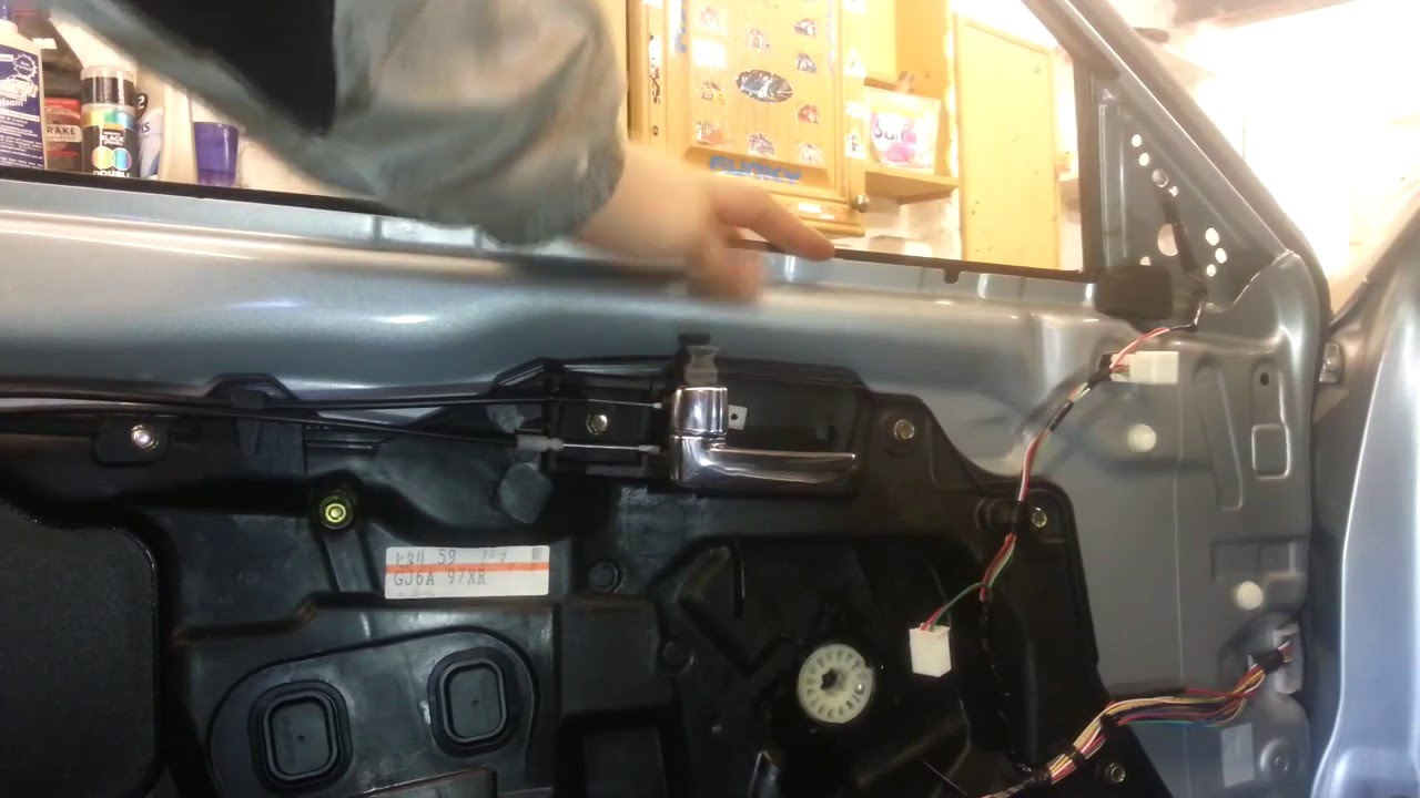 how to change replace front door lock mechanism mazda 6 [ 1280 x 720 Pixel ]