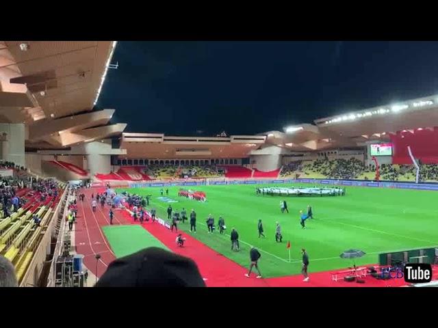 2018-2019 - Monaco-Club Brugge - Opkomst Spelers + Champions League Hymne