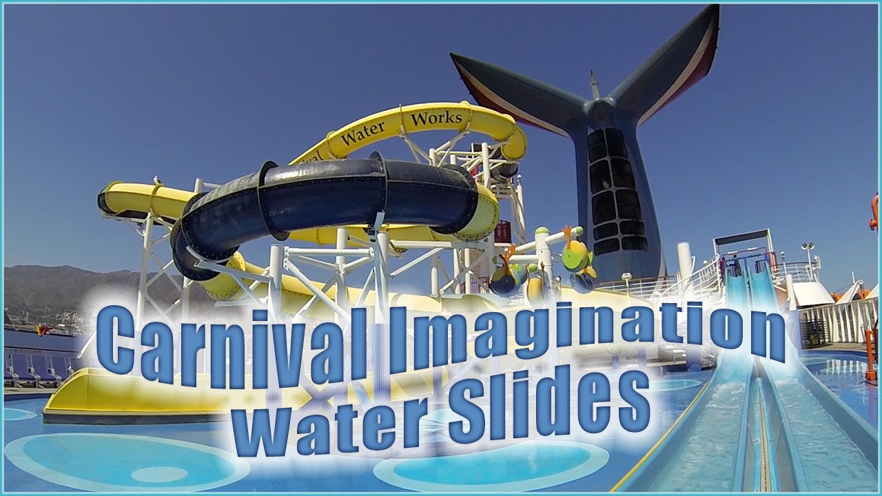 water slides on carnival imagination waterworks youtube