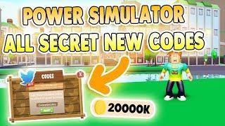 *11 SECRET NEW CODES* POWER SIMULATOR CODES ROBLOX