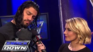 Roman Reigns looks above Big Show to the Royal Rumble: SmackDown, January 22, 2015