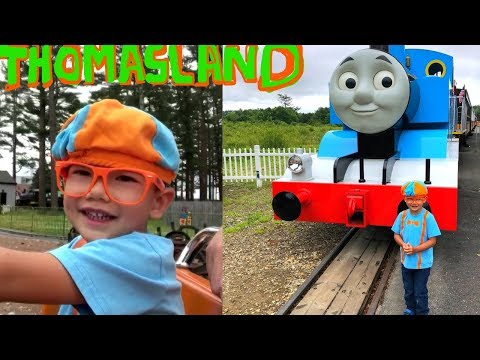 THOMAS LAND! Blippi's Fan-William Having So Much Fun At Thomas Land